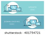 set of flat design concepts... | Shutterstock .eps vector #401754721