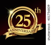 25th years golden anniversary... | Shutterstock .eps vector #401756839