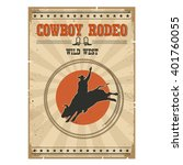 western rodeo vintage poster... | Shutterstock .eps vector #401760055