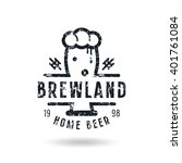 craft beer brewery emblem with... | Shutterstock .eps vector #401761084