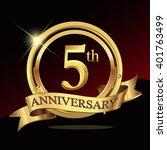 5th golden anniversary logo... | Shutterstock .eps vector #401763499