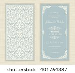 wedding invitation cards ... | Shutterstock .eps vector #401764387