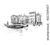 italy. venice. hand drawn... | Shutterstock .eps vector #401769457