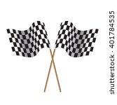 checkered flags. flags start... | Shutterstock . vector #401784535