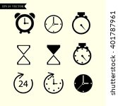 time and clock icons. vector... | Shutterstock .eps vector #401787961