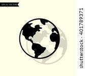 icon earth | Shutterstock .eps vector #401789371