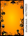 halloween card template. | Shutterstock . vector #401790025