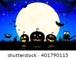 halloween illustration   jack o ... | Shutterstock . vector #401790115