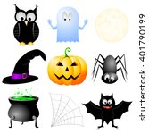 halloween motives   jack o... | Shutterstock . vector #401790199