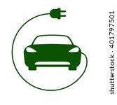 electric car icon vector... | Shutterstock .eps vector #401797501