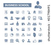 business school icons  | Shutterstock .eps vector #401798491