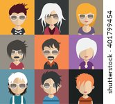 set of avatars | Shutterstock .eps vector #401799454