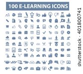 learning icons  | Shutterstock .eps vector #401800741