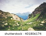 Rocky Mountains Landscape Green ...