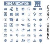 organization icons  | Shutterstock .eps vector #401806291