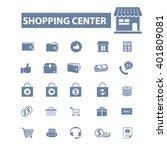shopping center icons  | Shutterstock .eps vector #401809081