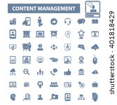 content management icons  | Shutterstock .eps vector #401818429