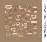 images for confectionery or... | Shutterstock .eps vector #401819287