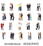 standing together business... | Shutterstock . vector #401819455