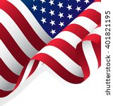 waving american flag vector ... | Shutterstock .eps vector #401821195