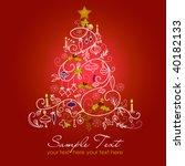 christmas tree | Shutterstock .eps vector #40182133