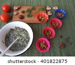 cooking goutweed omelette with...