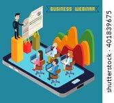 business webinar. web seminar.... | Shutterstock .eps vector #401839675