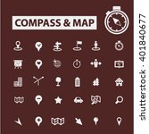 compass map icons  | Shutterstock .eps vector #401840677