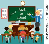 back to school. classroom with... | Shutterstock .eps vector #401843689