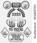 vintage craft beer brewery... | Shutterstock .eps vector #401843701