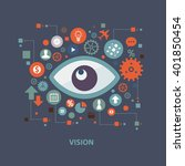 vision concept design on clean... | Shutterstock .eps vector #401850454