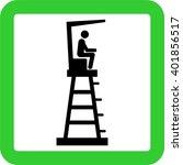 lifeguard tower | Shutterstock .eps vector #401856517