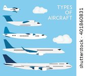 types of aircraft. vector... | Shutterstock .eps vector #401860831