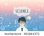 genius boy with bright light...   Shutterstock .eps vector #401861371