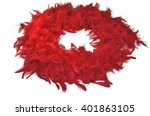 Red Fluffy Feather Boa  Coiled...
