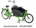 Green Colored Cargo Bicycle On...