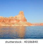 gunsite butte rock formation at ... | Shutterstock . vector #40186840