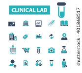 clinical lab icons  | Shutterstock .eps vector #401868517