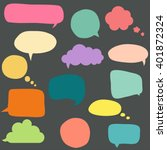 collection of colorful speech...   Shutterstock .eps vector #401872324