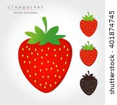 strawberry on white background  ... | Shutterstock .eps vector #401874745