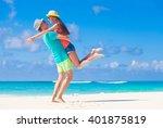 romantic lovers vacation at...   Shutterstock . vector #401875819