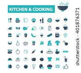 kitchen cooking icons  | Shutterstock .eps vector #401876371