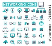 networking icons  | Shutterstock .eps vector #401880661