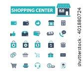 shopping center icons  | Shutterstock .eps vector #401880724