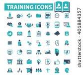training icons  | Shutterstock .eps vector #401884357