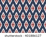 geometric ethnic oriental ikat... | Shutterstock .eps vector #401886127