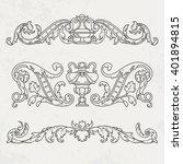 floral style design elements.... | Shutterstock .eps vector #401894815