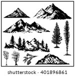 outdoor art hand drawn nature... | Shutterstock .eps vector #401896861