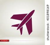plane icon | Shutterstock .eps vector #401898169
