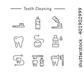 the items used for oral hygiene.... | Shutterstock .eps vector #401902999